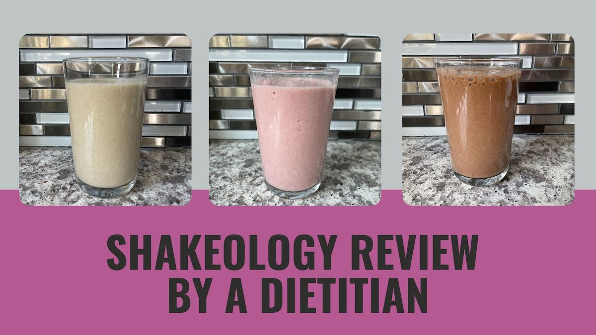 three Shakeology flavours blended